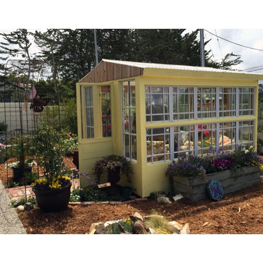 Greenhouse built by Brian