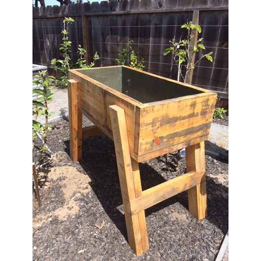 Planter box built and donated by Joey Silva for the raffle