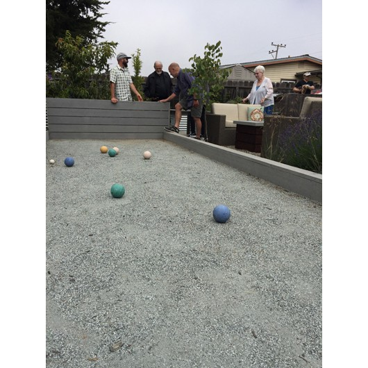 Close up of Bocce Ball court